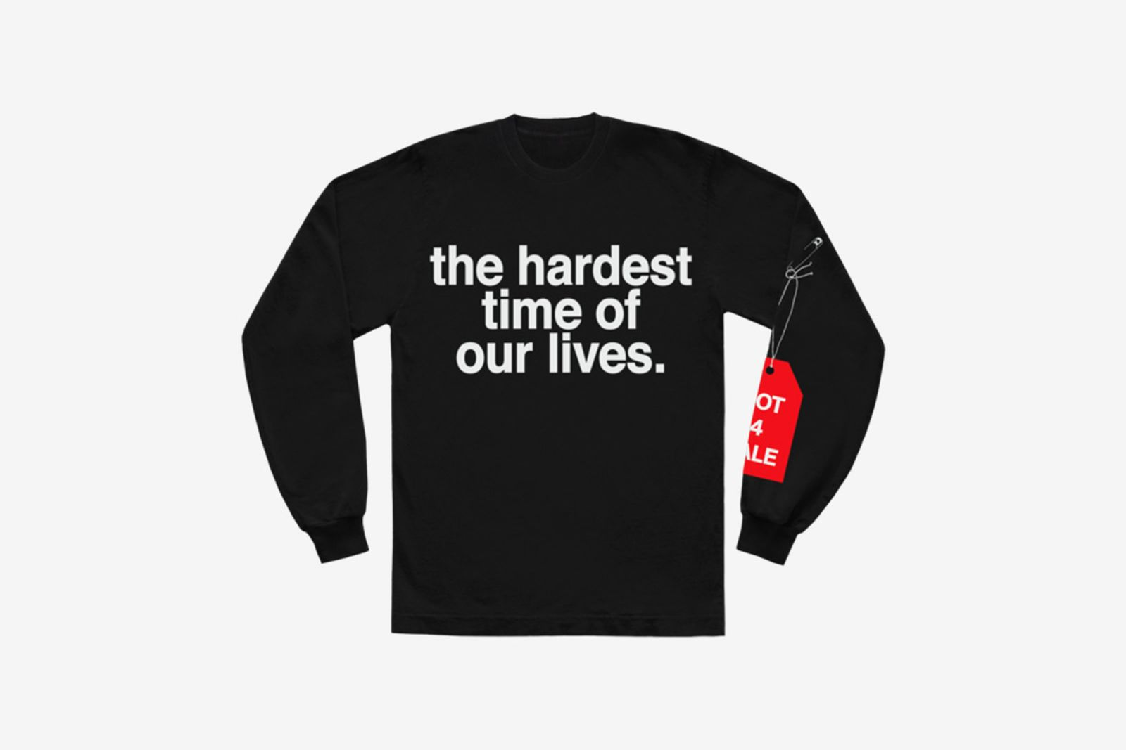 image of Andre' 3000's new sweater with slogan from tour jumpsuits