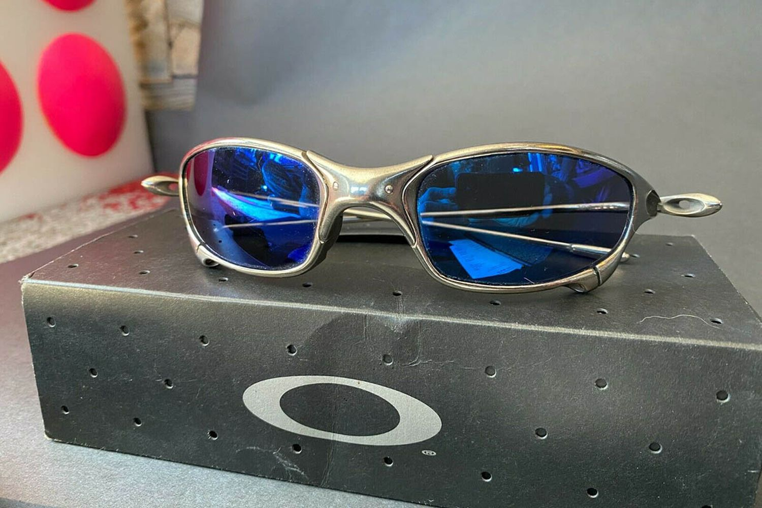 Vintage Juliet X-Metal Blue Sunglasses Titanium