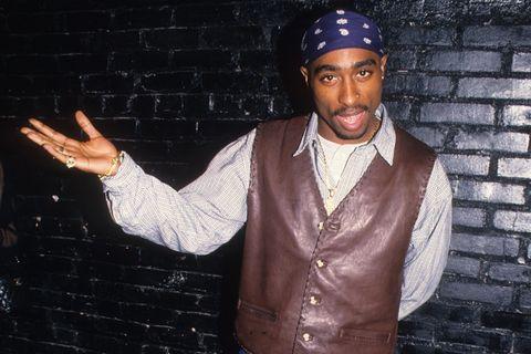 Tupac bandana leather vest