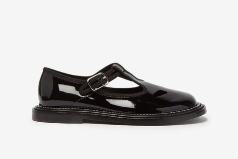 Alannis T-Bar Patent-Leather Mary Jane Flats