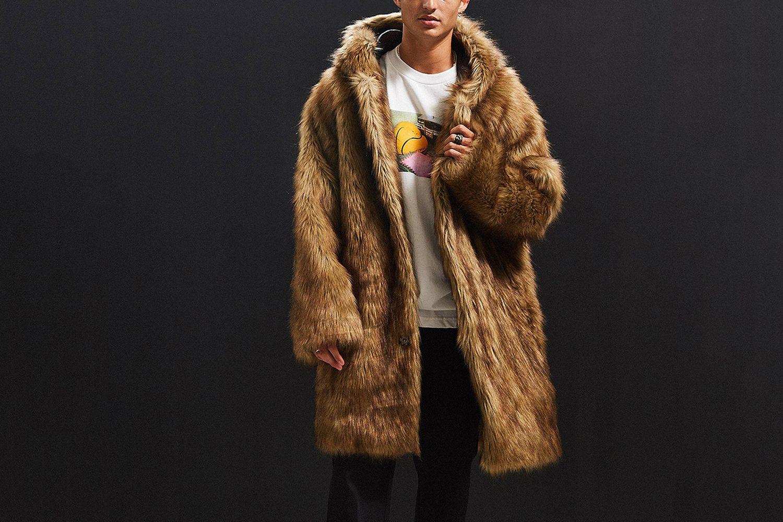Hooded Long Faux Fur Coat