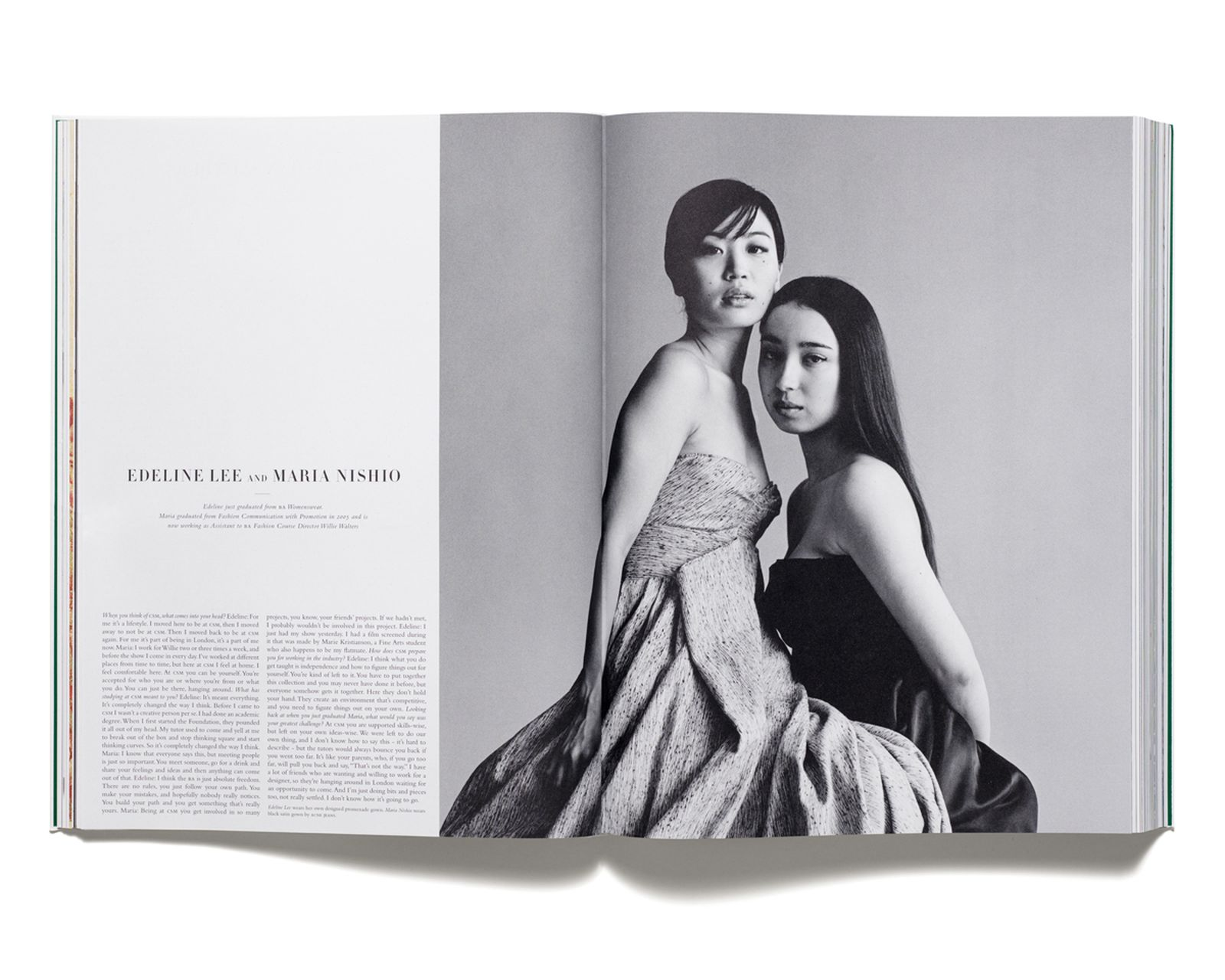 MASTERCLASS - Edeline Lee and Maria Nishio photographed by Snowdon for 'Acne Paper' issue 3, 2006.
