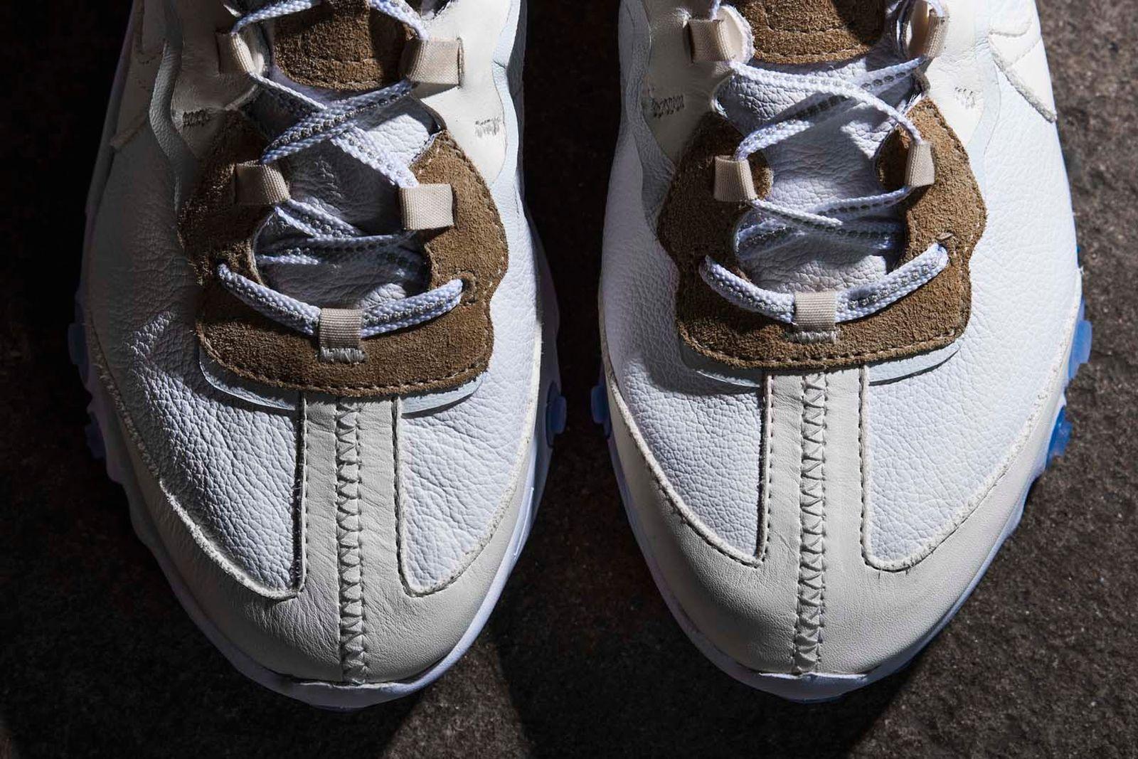 nike react element 87 leather custom the shoe surgeon release date price info Adidas Custom Sneakers