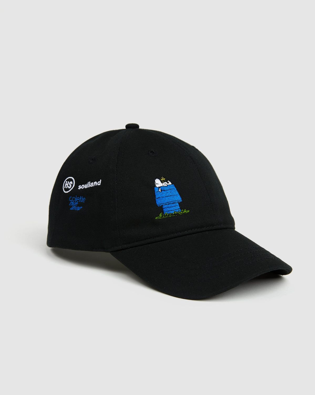 Colette Mon Amour x Soulland -  Snoopy Bed Black Baseball Cap - Image 1