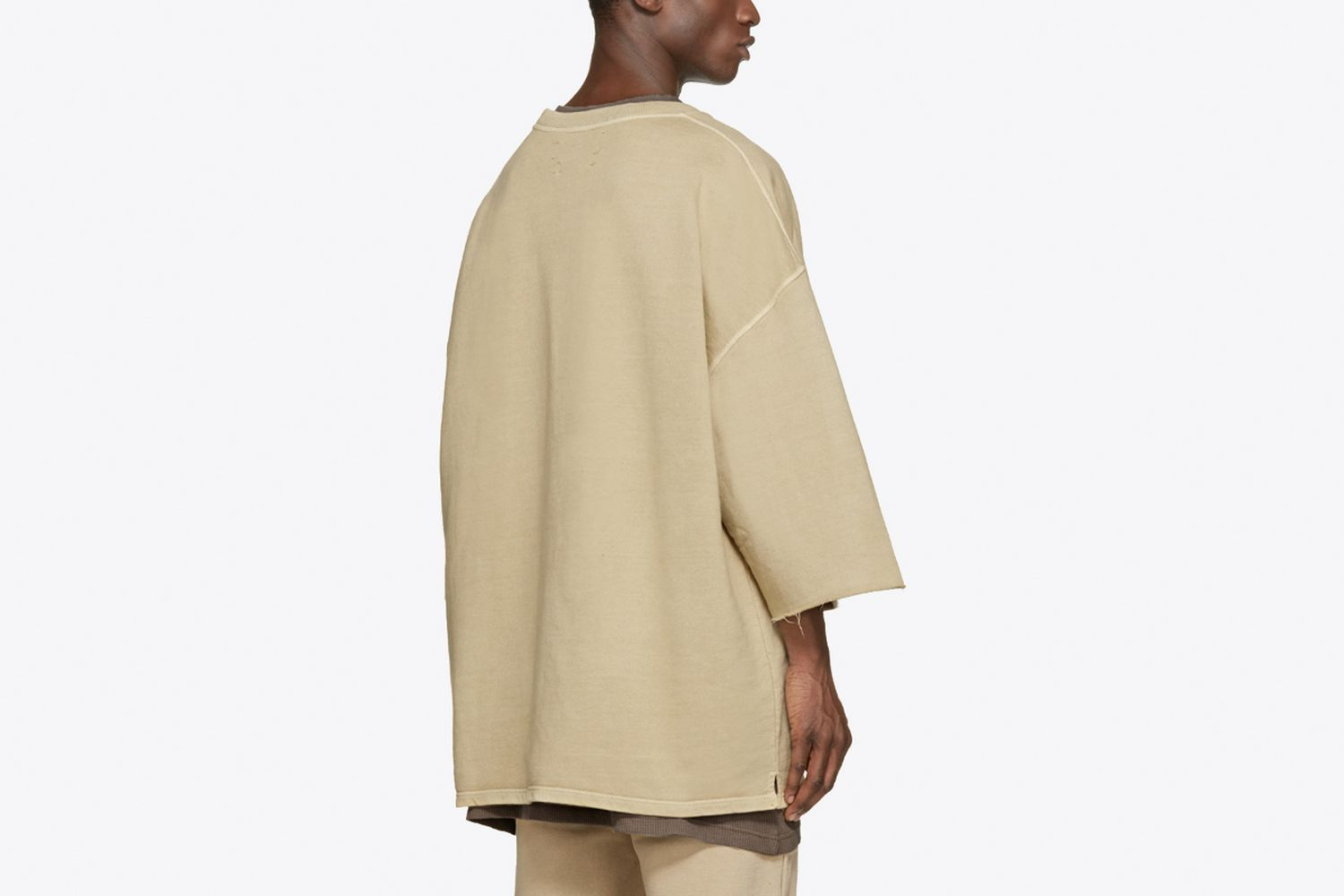 Cropped-Sleeve Pullover