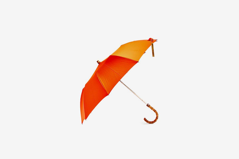 Whangee-Handle Telescopic Umbrella