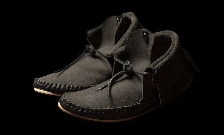 9a7a3460ad Ken Diamond x wings+horns Leather Moccasins
