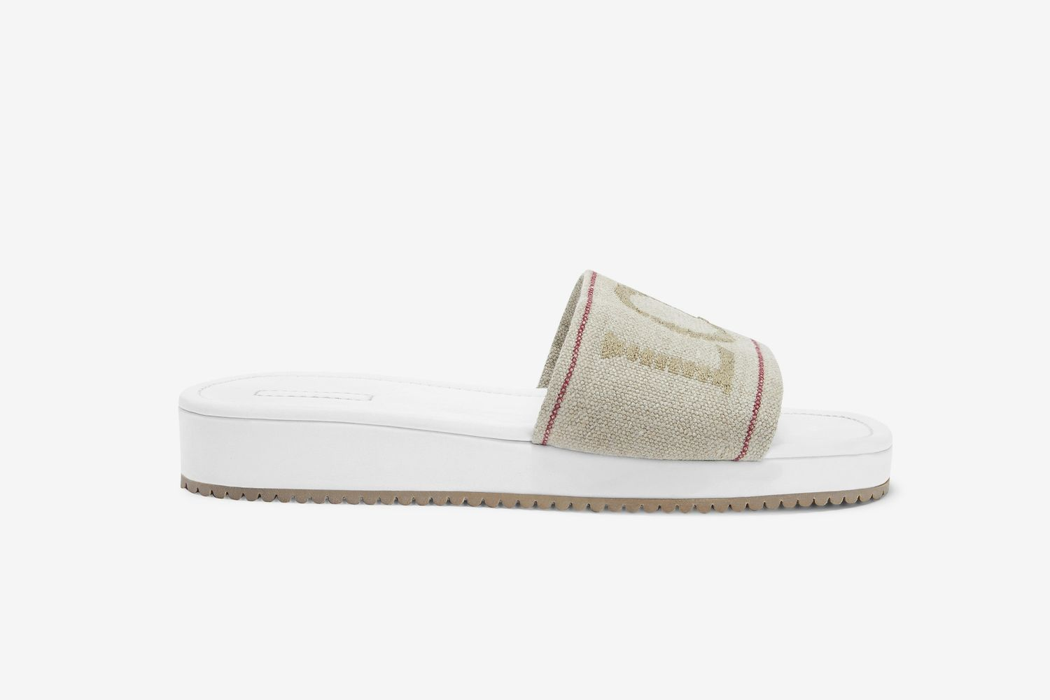 Logo-Embroidered Canvas Slides