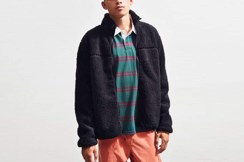 Zip-Up Sherpa Jacket