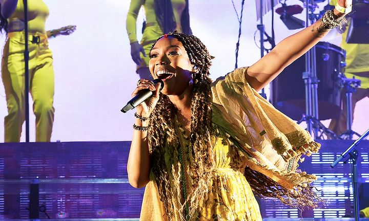 Brandy performing