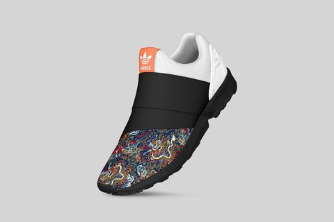 competitive price 60894 00339 adidas Originals mi ZX Flux Slip-On 'Graphics Of The World'