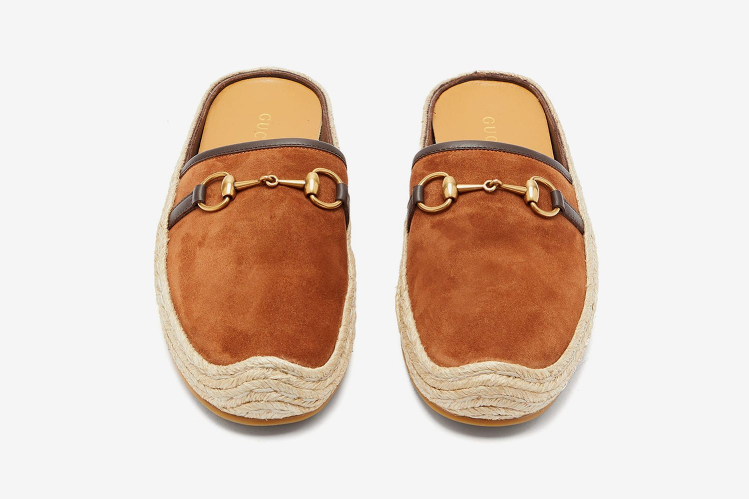 Horsebit Suede Backless Espadrilles