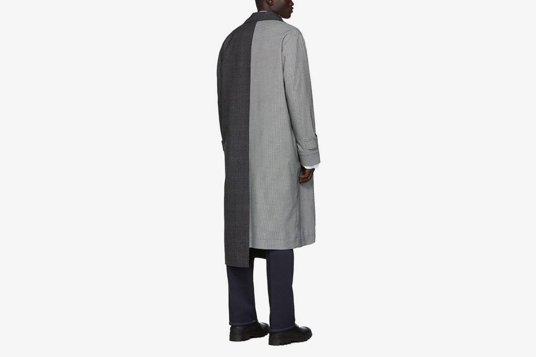 Check Asymmetric Coat