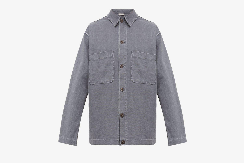 Patch Pocket Cotton Jersey Overshirt