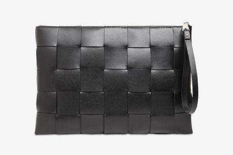 Maxi Intreccio Leather pouch