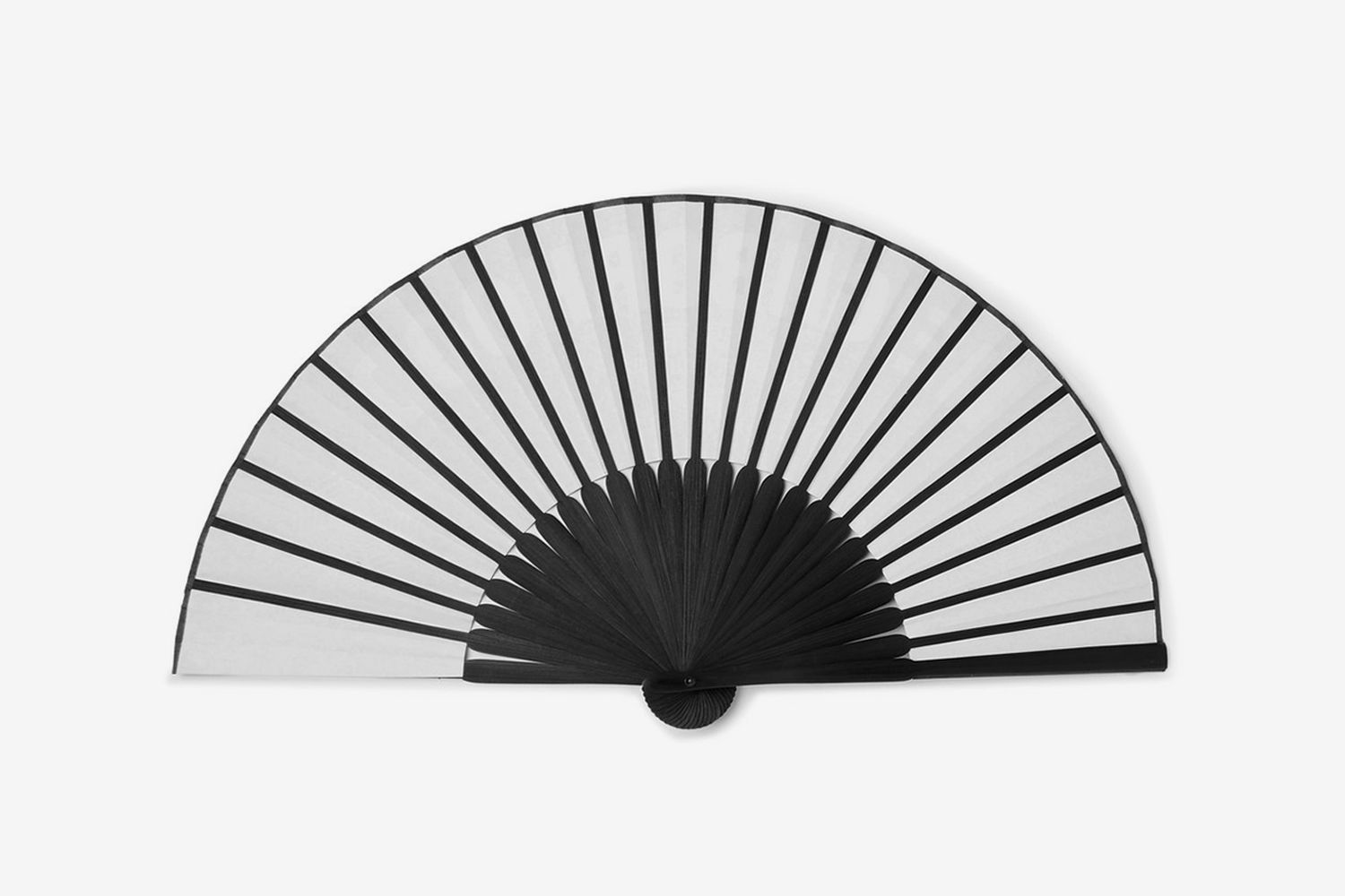 Printed Paper And Bamboo Fan