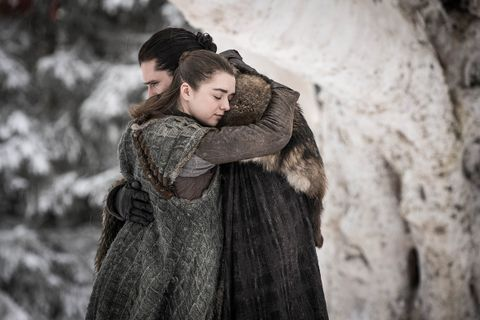 Jon Snow Arya Stark Game of Thrones hugging