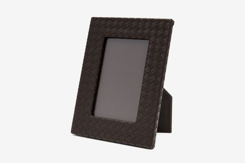 Intrecciato-Weave Leather Photo Frame