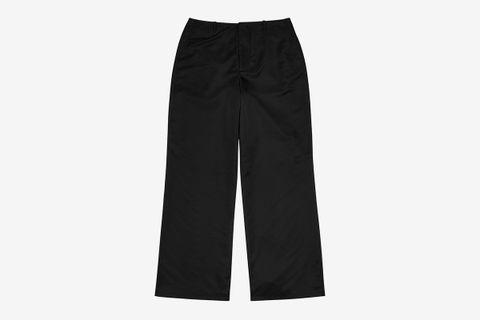 Bedsheet Wide-Leg Shell Trousers