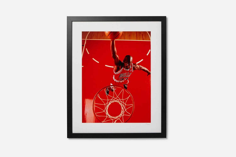 Framed 1995 Michael Jordan Red Dunk Giclée Print