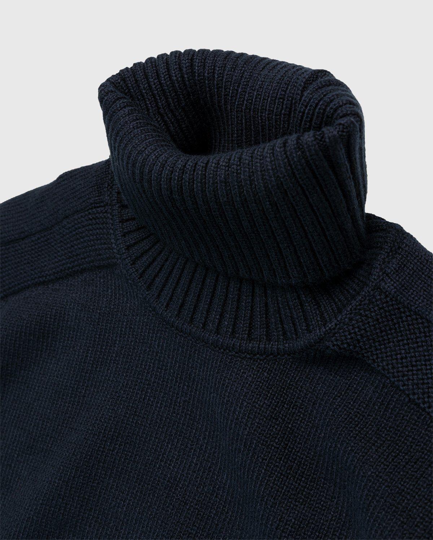Stone Island – Knit Turtleneck Navy Blue - Image 3