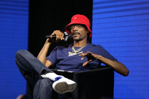 Snoop Dogg speaks onstage at the REVOLT X AT&T summit