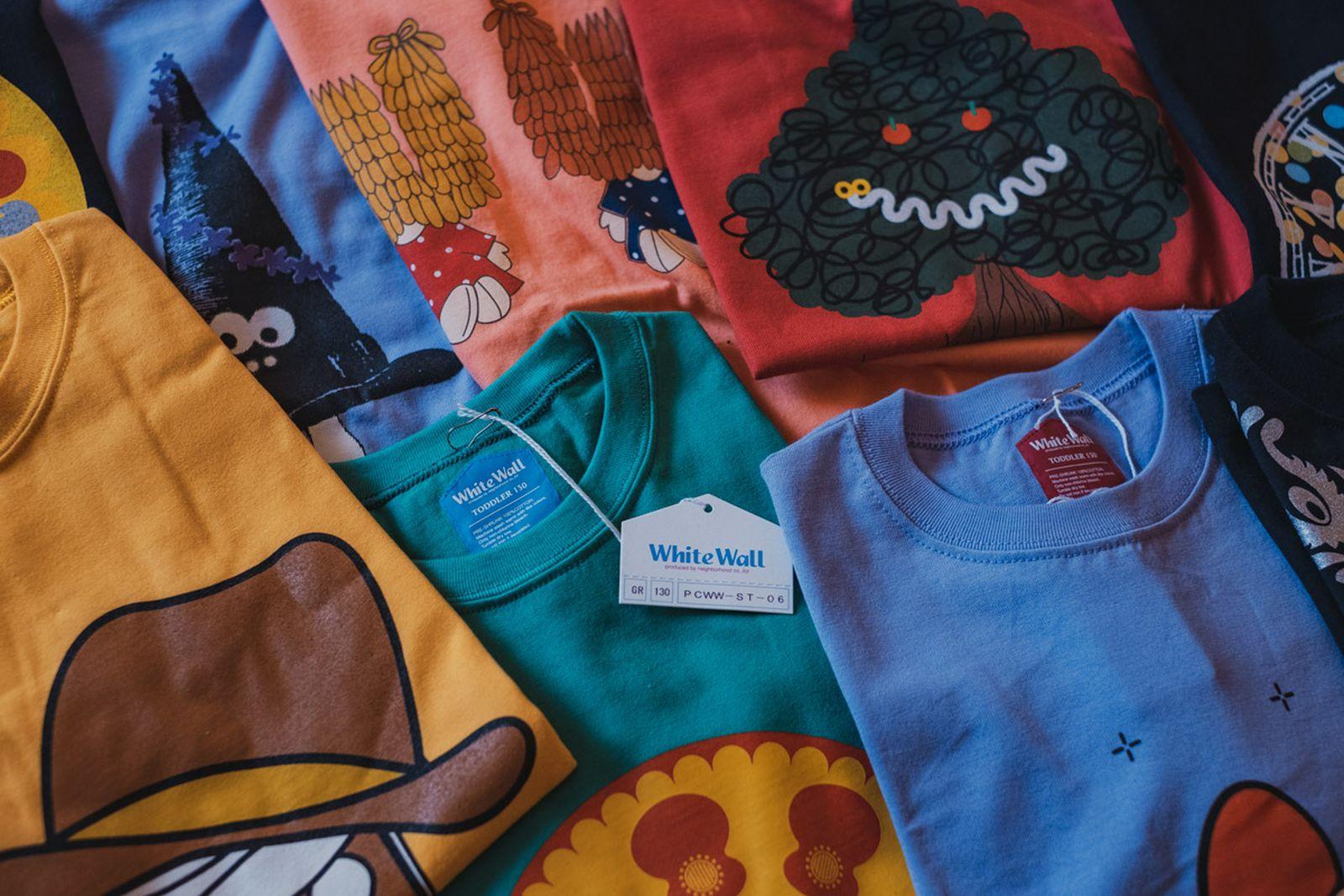 A selection of Hitomi Yokoyama's t-shirts