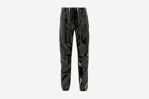 Double-Zip Vinyl Trousers