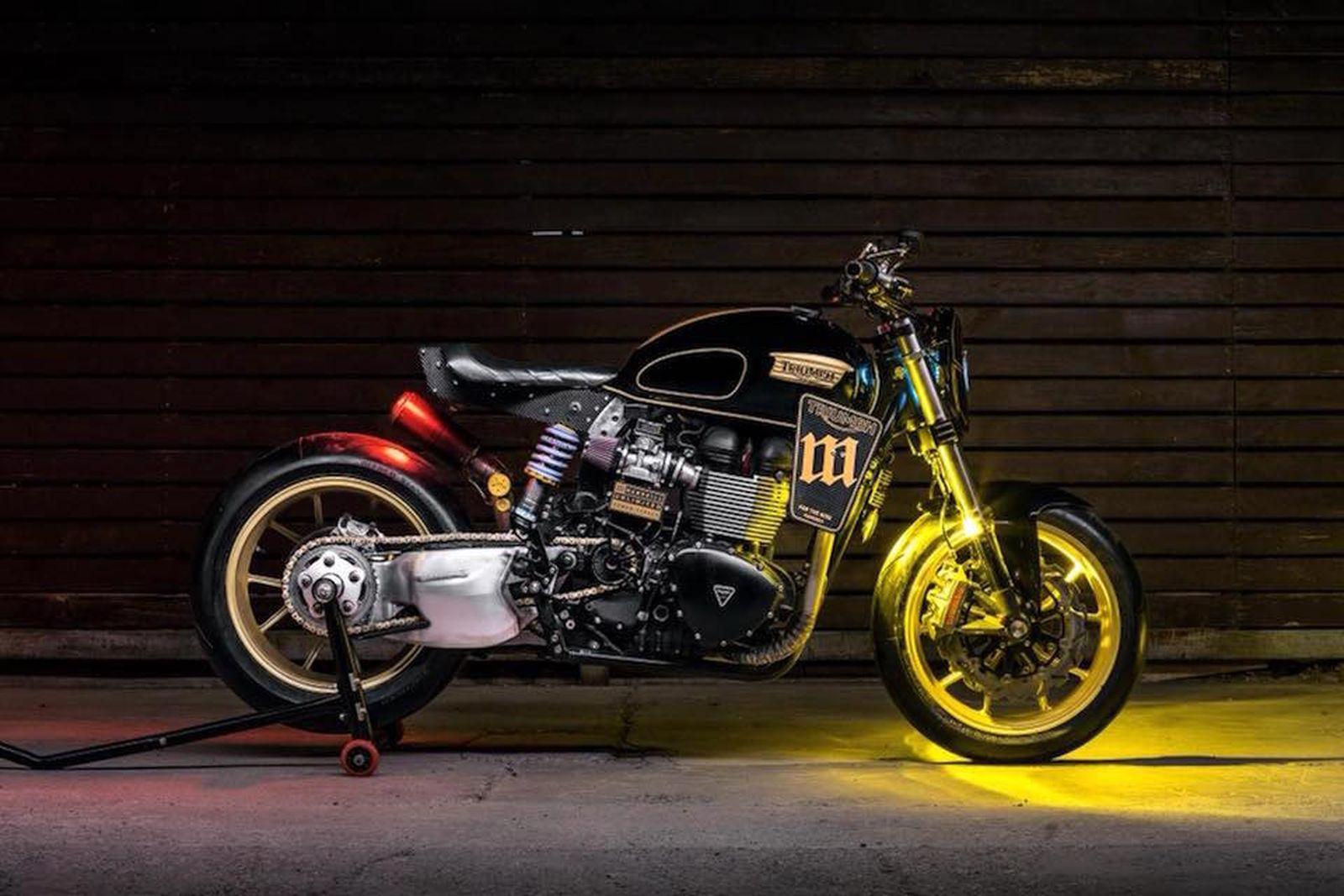 mandrill garage power street triumph t100 racer