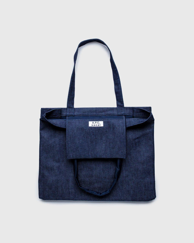 A.P.C. x Sacai — Shopping Bag Candy Dark Navy - Image 3