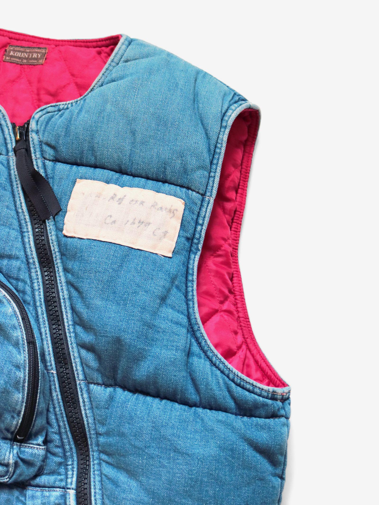 Kapital 8oz Denim Army Flight Vest