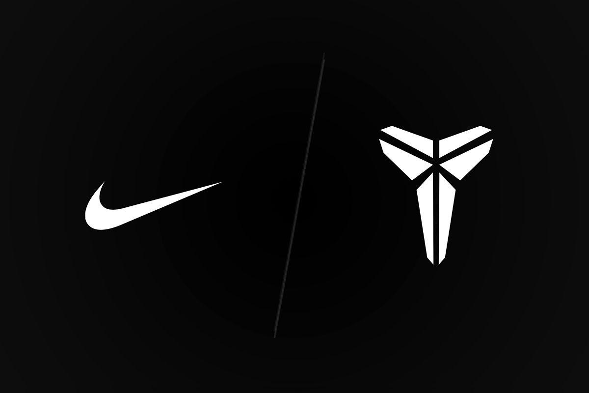 Nike and Kobe Mamba logo on black background