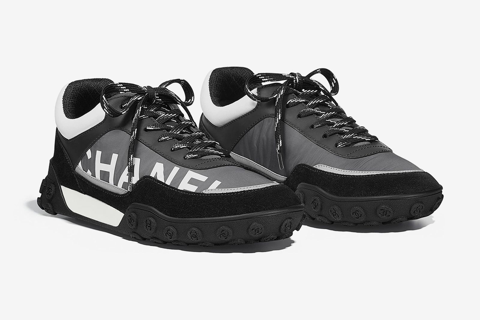 chanel nylon calfskin sneakers release date price waffle trainer