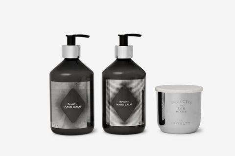 Scented Candle, Hand Wash & Hand Balm Set