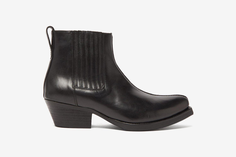 Cuban Heel Leather Boots