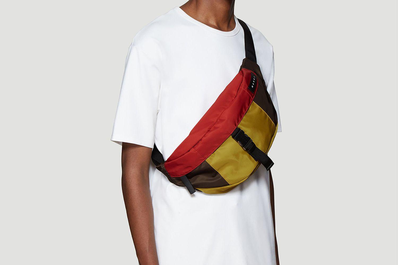 Contrast Panel Belt Bag