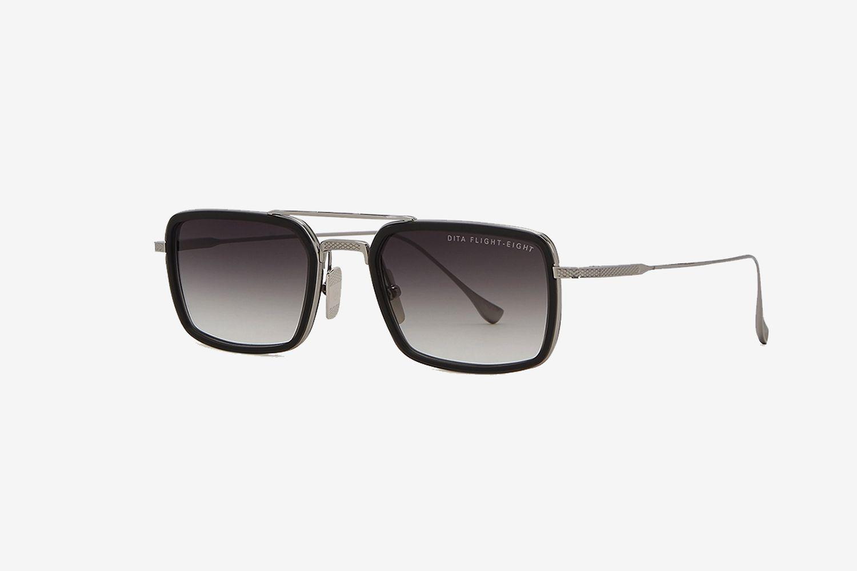 Flight.008 Rectangular-Frame Sunglasses