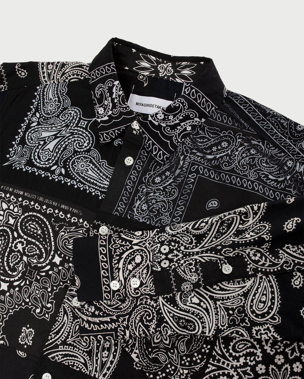 Miyagihidetaka Bandana Shirt Black - Image 5