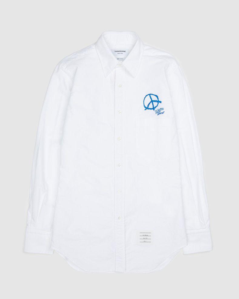 Colette Mon Amour x Thom Browne — White Peace Classic Shirt