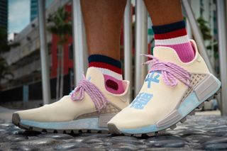 54dccb01678a6 An On-Foot Look at the Cream N E R D  Pharrell x adidas Originals NMD Hu