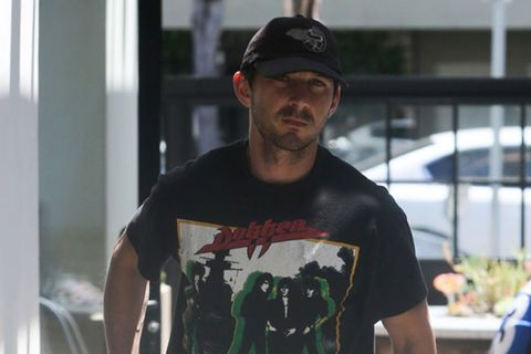 Normcore God Shia LaBeouf Kills it in Vintage Metal Tee & Cap