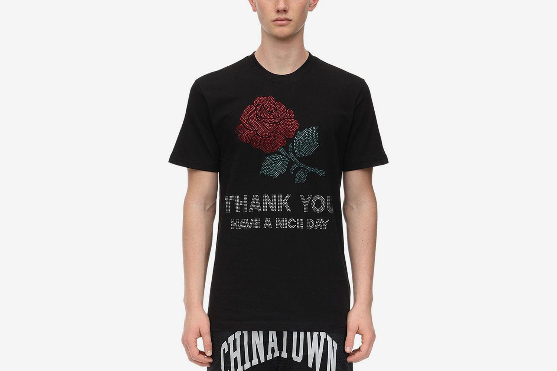 TY Rhinestone Cotton Jersey T-shirt