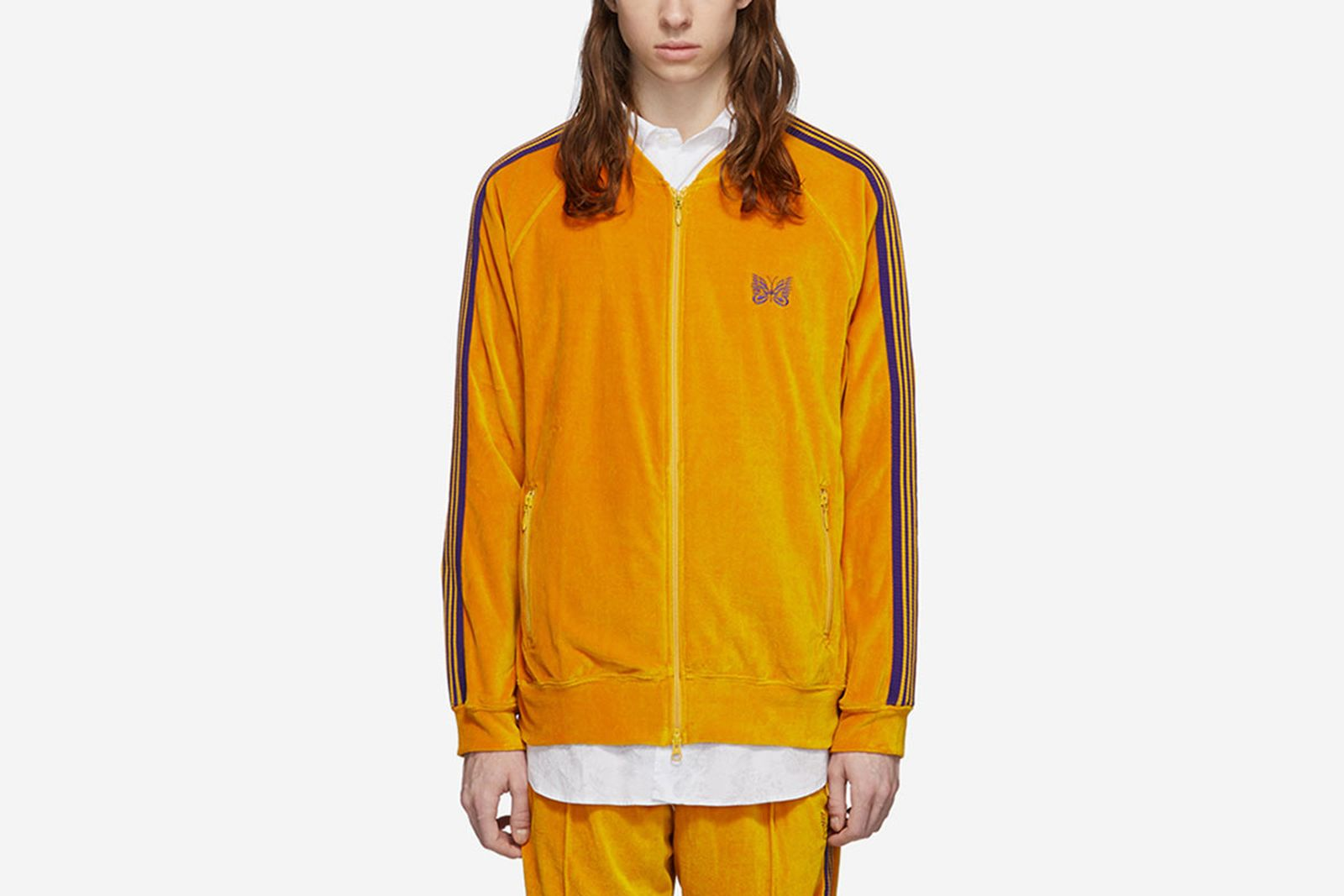 needles-orange-velour-track-jacket-main