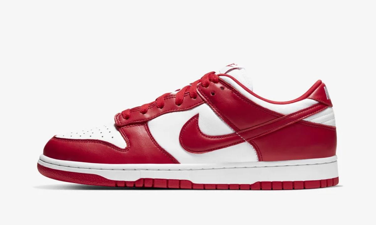 """Nike Dunk Low """"University Red"""": Official Images & Release Info"""