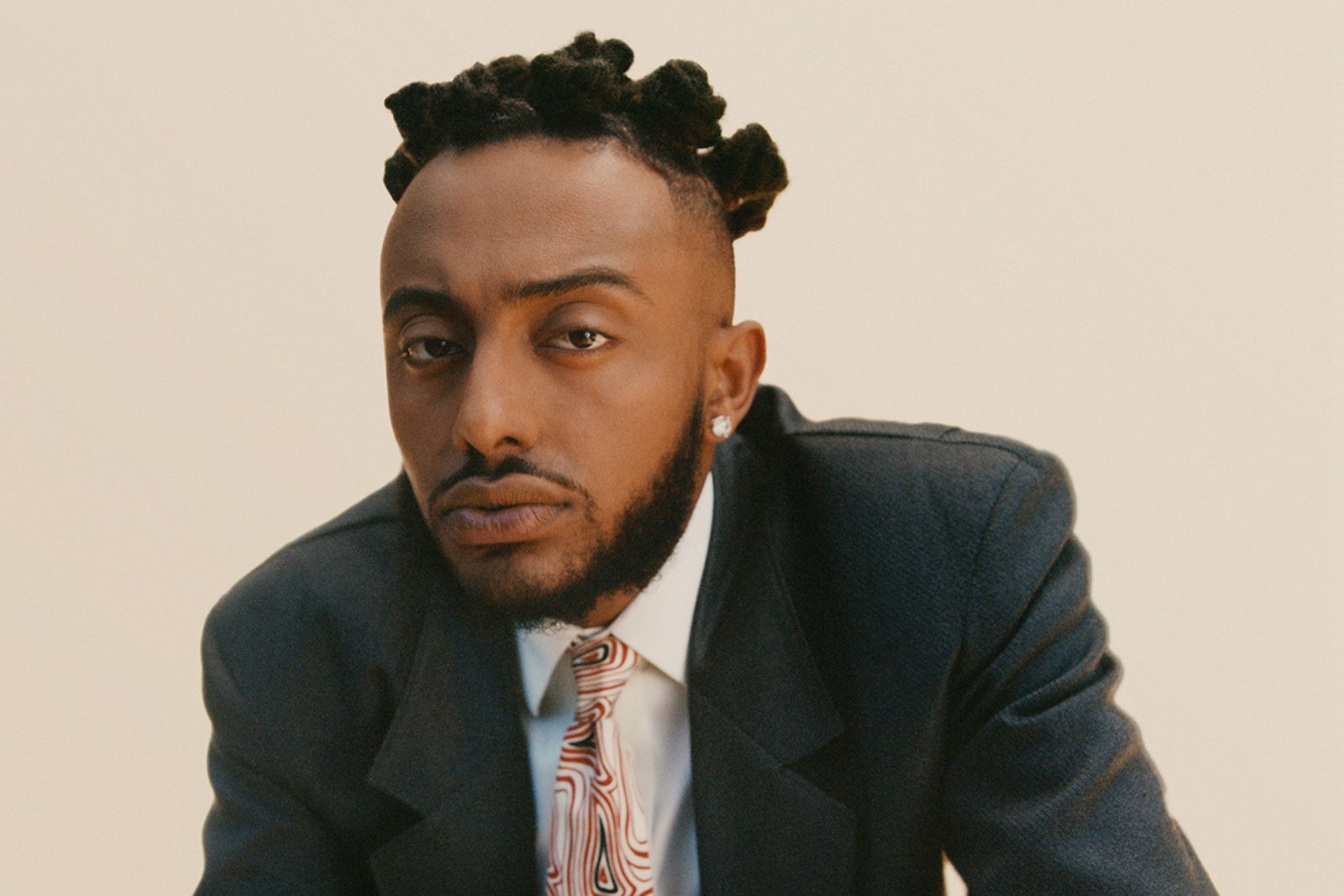 Aminé suit and tie