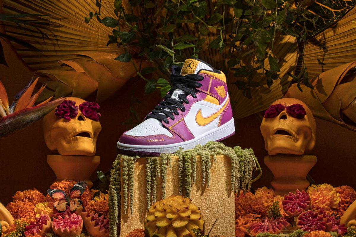 "Nike Celebrates ""Day of the Dead"" With Vibrant Air Jordan 1 Mid 13"