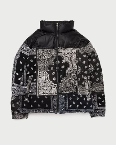 Miyagihidetaka Bandana Down Jacket Black