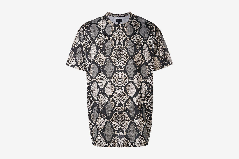 Snake-Print T-Shirt
