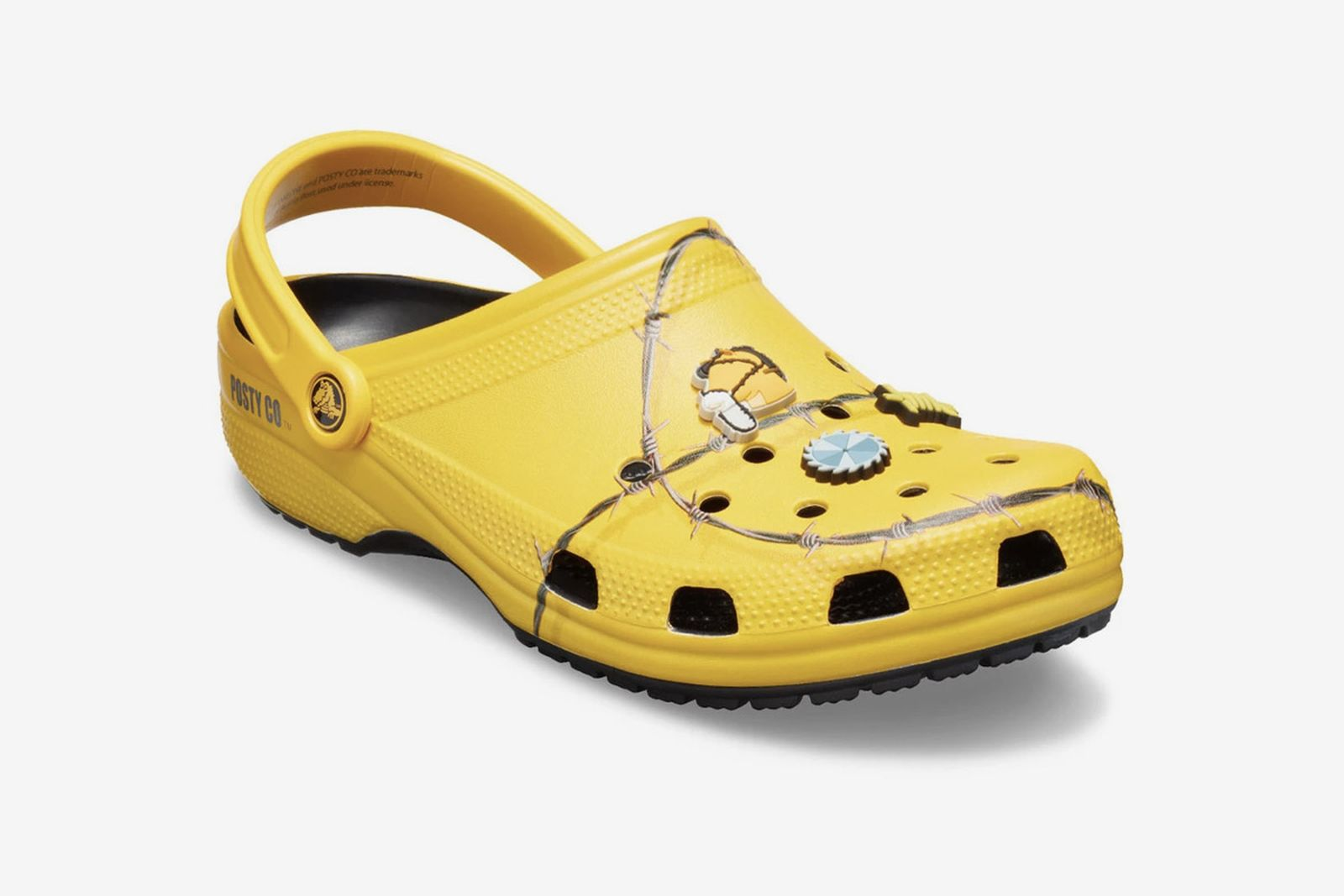 post malone crocs barbed wire classic clog release date price