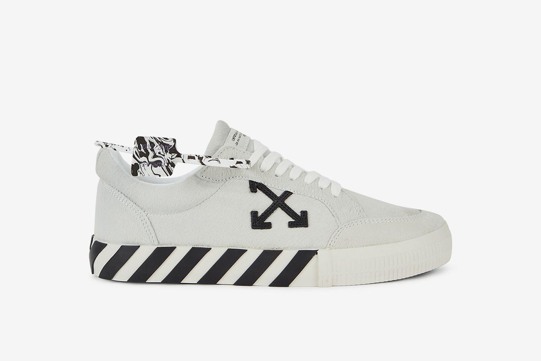 Low Vulcanized Calf Hair Sneakers